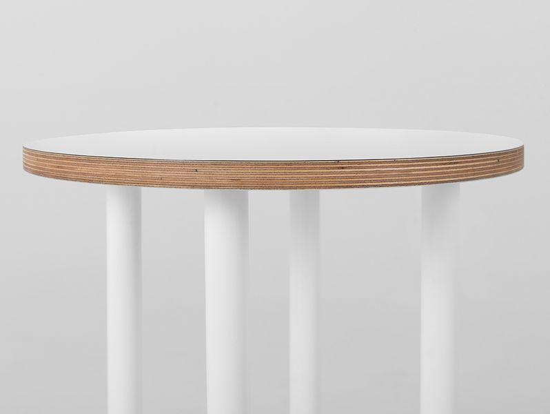 Stolik PENTO 40 - biały, biały, styl design skandynawski, kwietnik zdjęcie 3