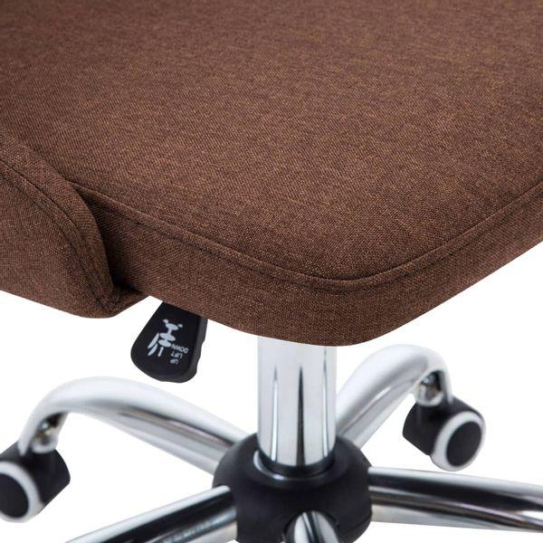 Krzesła Stołowe, 4 Szt., Brązowe, Tkanina zdjęcie 7