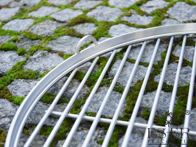 Ruszt do grilla ze stali nierdzewnej - okrągły 50 cm ES-ER zdjęcie 4