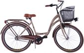 Rower Miejski 26 Damski Damka 3 Biegi z Koszem (29) opony brąz