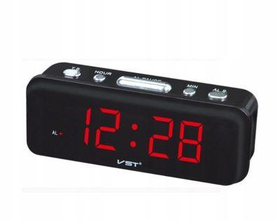 Elektroniczny budzik - zegarek z alarmem Czerwony