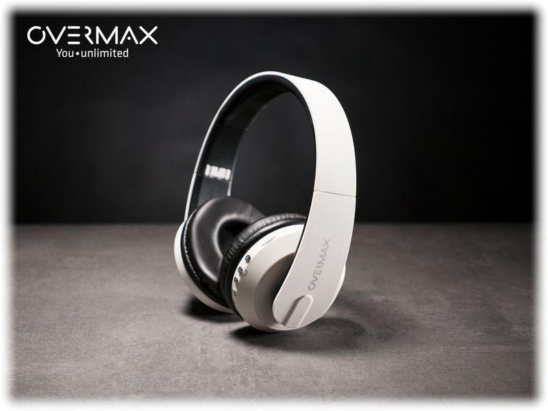 Słuchawki Bezprzewodowe Białe MP3 BT OVERMAX SOUNDBOOST 2.2 zdjęcie 3