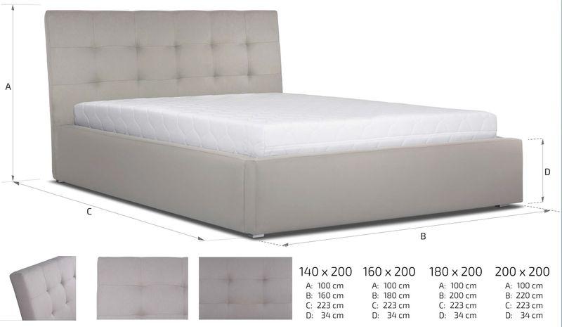 Łóżko tapicerowane 160x200 + stelaż SZYBKA WYSYŁKA zdjęcie 3