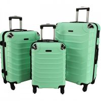 Zestaw 3 walizek PELLUCCI RGL 730 Miętowe