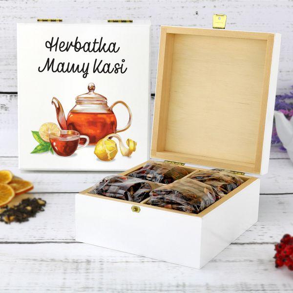 Skrzynka na herbatę z NADRUKIEM PREZENT dla MAMY na Arena.pl