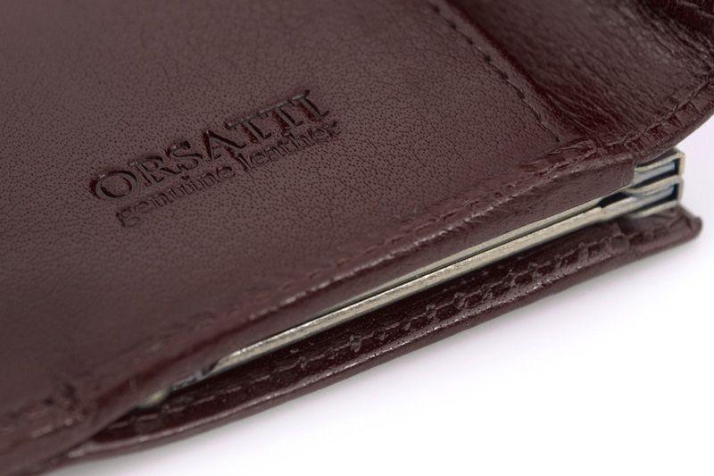 Skórzany portfel damski Orsatti D-02B w kolorze brązowym zdjęcie 8