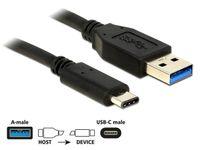 KABEL USB-C(M)->USB-A(M) 3.1 GEN 2 0.5M CZARNY DELOCK