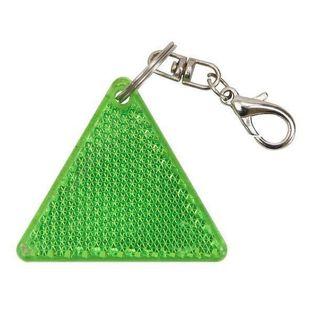 Brelok odblaskowy Safe, zielony/biały
