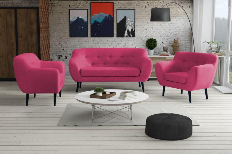 Sofa FINKA 3 PIK kanapa skandynawska vintage retro szara prl RIBES zdjęcie 4