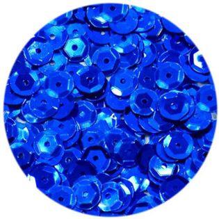 """Cekiny """"Classic Metalic"""", niebieskie, 6 mm, 15 g, DekoracjePolska"""