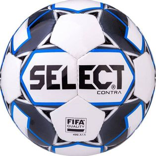 Piłka nożna Select Contra 5 FIFA 2019 biało niebieska 15006