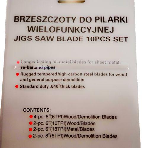 Zestaw BRZESZCZOT DO PIŁY SZABLASTEJ NOŻE LISI OGON 10 szt na Arena.pl