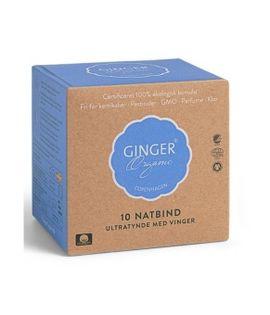 Ginger Organic Podpaski Na Noc 10Szt
