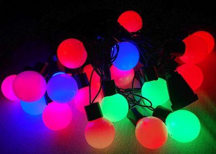 Lampki choinkowe kulki led 20 wielobarwnych lampek, 4 metry