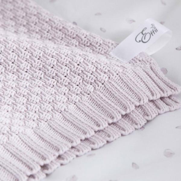 Effiki - Kocyk różowy 100% bawełny zdjęcie 3