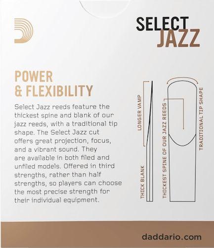 Stroik saksofon altowy 3M RICO Select Jazz UNFILED na Arena.pl