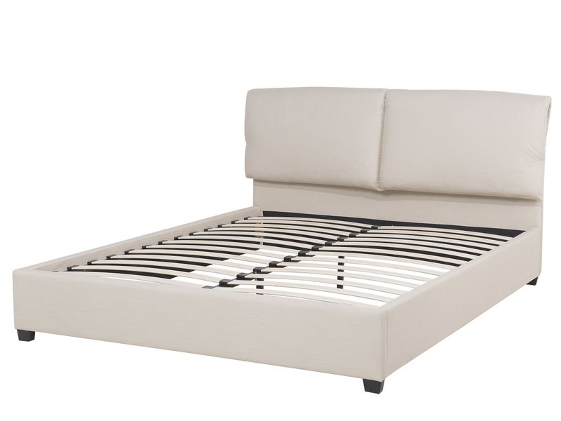 łóżko Rama łóżka Tapicerowana Drewniane Nóżki 140x200cm Ekskluzywne
