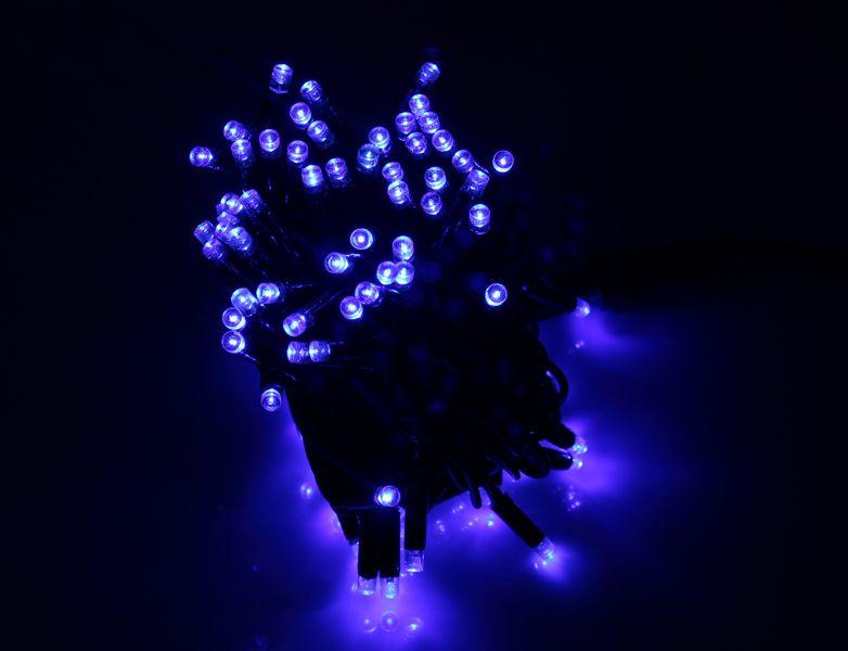 Zewnętrzny łańcuch, sznur na grubym kablu 100LED Niebieski zdjęcie 1