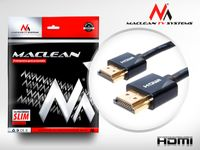 Kabel HDMI Maclean MCTV-701 HDMI 1.4 (M) - HDMI 1.4 (M) ULTRA SLIM, czarny 1m