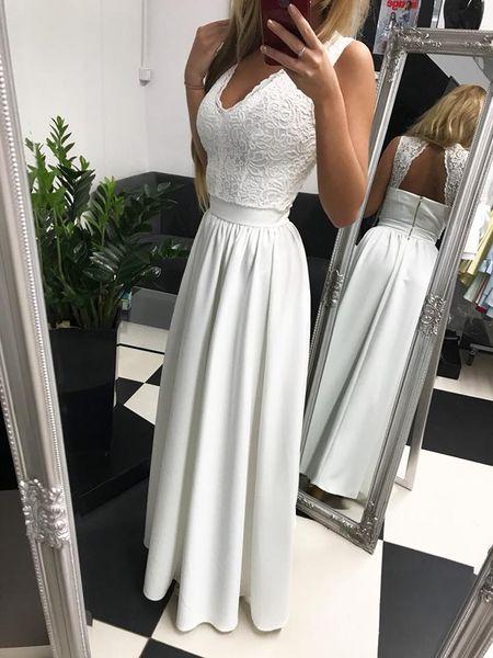 Zjawiskowa długa biała sukienka koronkowa ślub wesele 34,36,40