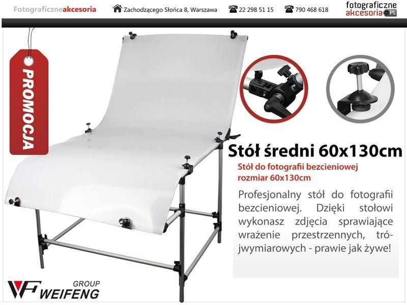 Stół bezcieniowy 60x130cm + 2 Imadła z trzpieniem zdjęcie 2
