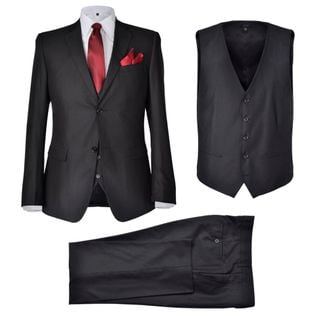 Trzyczęściowy garnitur męski rozmiar 50 czarny
