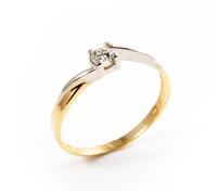 Pierścionek Zaręczynowy z Brylantem [PZB -003] ROZMIAR - 13