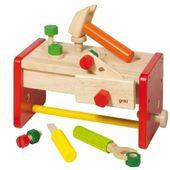 Stół stolarski - Drewniany warsztat z narzędziami do zabawy dla dzieci