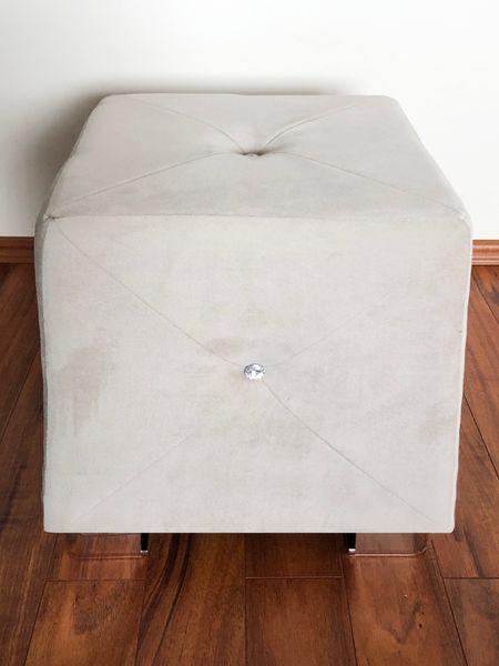 Pufa tapicerowana pikowana GLAMOUR beż zdjęcie 3