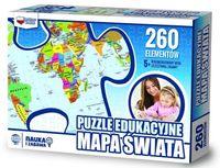 Puzzle 260 edukacyjne Mapa świata