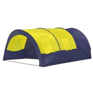 Namiot 6-osobowy niebieski z żółtymi elementami. VidaXL