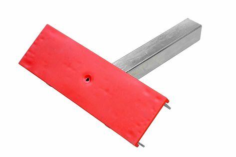 Podpora płaska pojedyncza czerwona - PZ1 H=300 mm