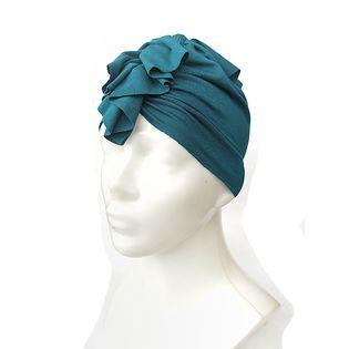 Turban kolor butelkowa zieleń /Bazik Handmade,