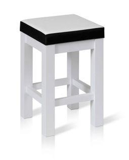 Taboret KUCHENNY ERGO P stołek miękkie siedzisko EKO SKÓRA kolor MIX