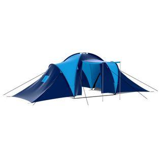Namiot turystyczny dla 9 osób granatowo-niebieski VidaXL