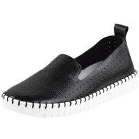 Czarne Półbuty damskie Nessi 18390 buty skóra R.39