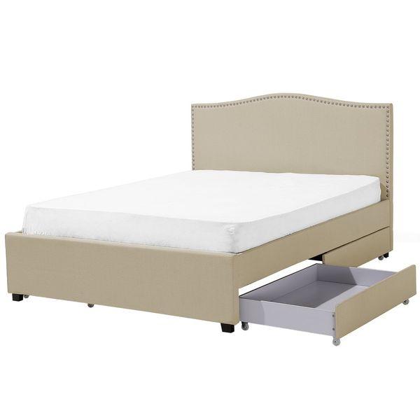 łóżko Rama łóżka Tapicerowane Z Pojemnikiem Ekskluzywne 160x200cm