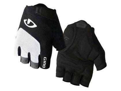 Rękawiczki męskie GIRO BRAVO GEL krótki palec white black roz. XL (obwód dłoni 248-267 mm / dł. dłoni 200-210 mm) (NEW)