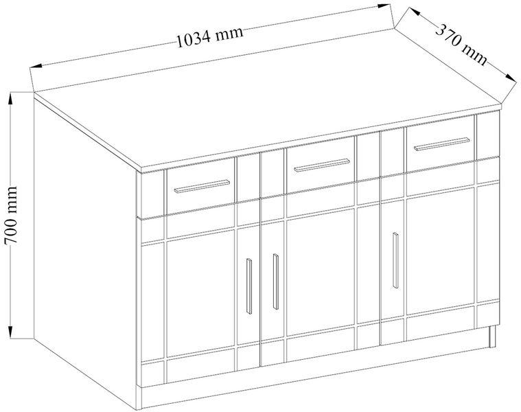 Komoda PARIS sonoma szuflady półki do salonu na Arena.pl
