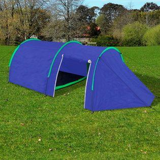 Namiot 4 Osobowy Granatowy / Zielony