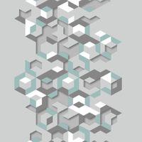 Tapeta Geometria Szaro Miętowa Efekt 3D L57711 Ugepa