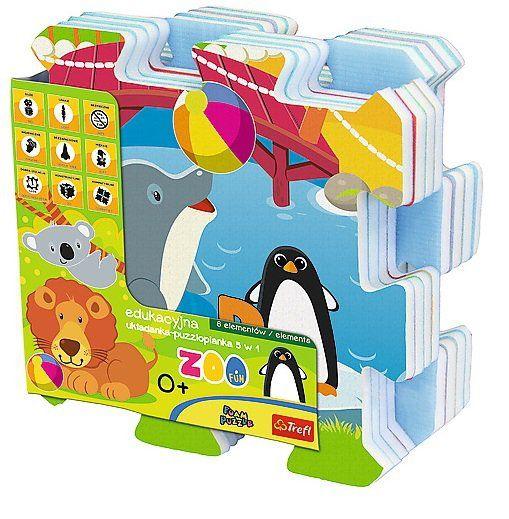 Edukacyjna układanka Zoo Fun 5 w 1 Trefl 60695 zdjęcie 2