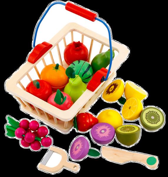 Kuchnia Drewniana Dla Dzieci Garnki Akcesoria Owoce Magnetyczne U46U zdjęcie 7