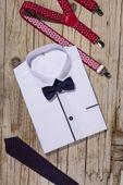Biała koszula chłopięca, krótki rękaw 98 zdjęcie 2