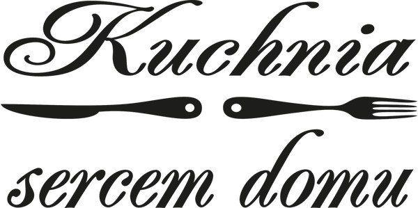 100x50cm Kuchnia Sercem Domu Naklejka Napis Czarno Biały ścienny Stylowy
