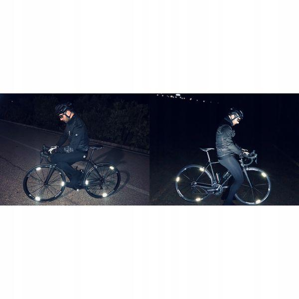 Wheel Flash Odblaskowe Naklejki Na Koła 8Szt zdjęcie 3