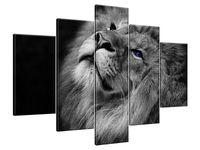 Obraz Drukowany 150x105 Srebrny lew z niebieskimi oczyma arcydzieło  bez zarzutu
