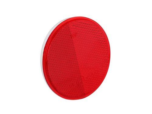 Odblask czerwony okrągły 75mm, z taśmą samoprzylepną na Arena.pl
