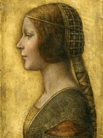 Reprodukcje obrazów La Bella Principessa - Leonardo da Vinci Rozmiar - 80x60