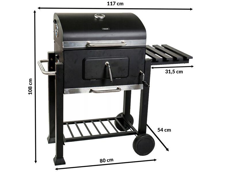 Duży grill ogrodowy węglowy Premium Termometr Półki JY-BS01 D103 zdjęcie 5